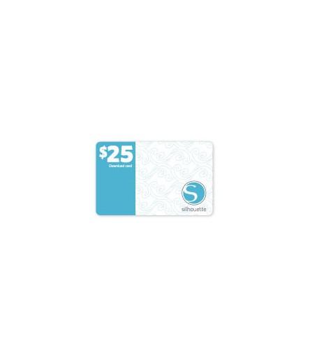 25$ Downloadkarte für Silhouette Cameo Schneideplotter