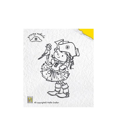 Nellie Snellen Young Rebels Parot Clear Stamps
