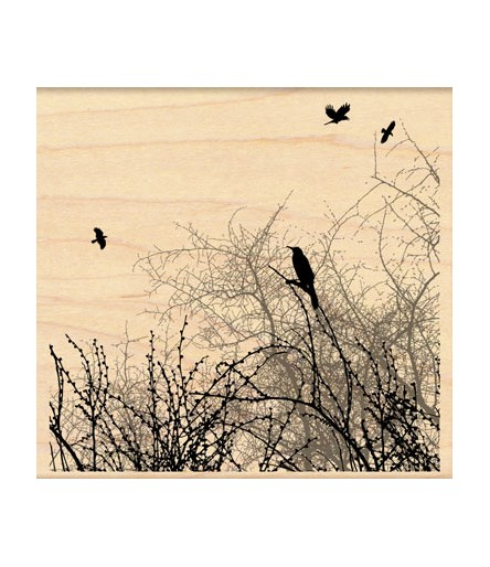 Winter Sky Birds Stempel