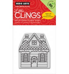 Snowy House Cling Stempel