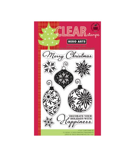 Hero Arts Clear Stamps Decorate you Holidays