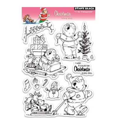 Penny Black Clear Stamps Christmas every day