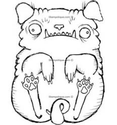 """Stampotique Stempel """"Floating Dog"""""""