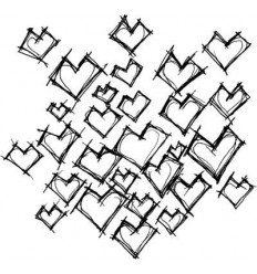 """Daniel's Hearts"" Stempel Stampotique"