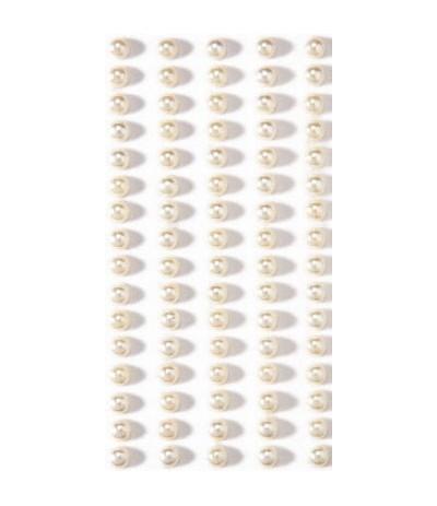 Selbstklebende Perlen weiss 5mm - Artoz
