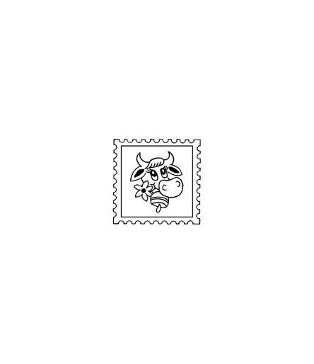 Kuh Briefmarke