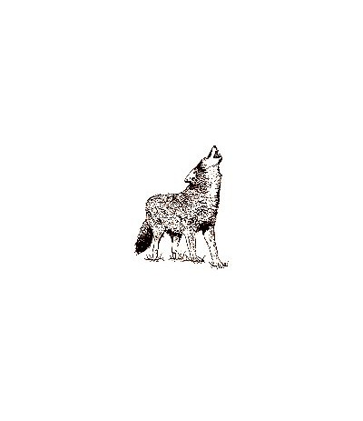 Heulender Wolf Stempel