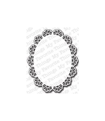 Die-namics Stanzschablone Oval Decorative Doily