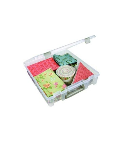 """Lagerbox für Scrapbooking-Papier transparent 12"""" mit Henkel"""