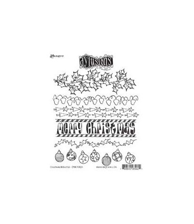 Dylusions Ranger Cling Stempel christmas Borders