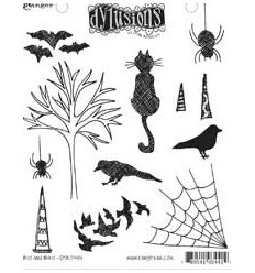 Dylusions Ranger Cling Stempel Bits and Bats