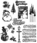 Tim Holtz Cling Stempel Mini Holidays