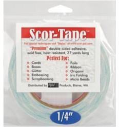 """Scor-Tape 1/4"""" - Doppelseitiges Klebeband"""