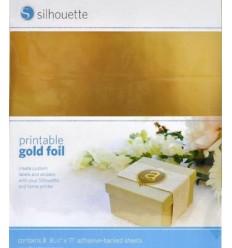 Papier gold metal adhesif imprimable