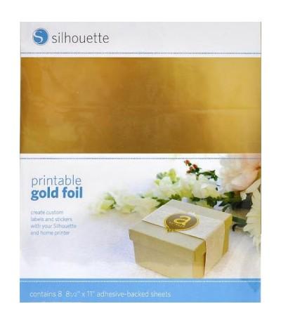 Selbstklebende Bedruckbare Klebefolie/Vinylfolie Gold von Silhouette