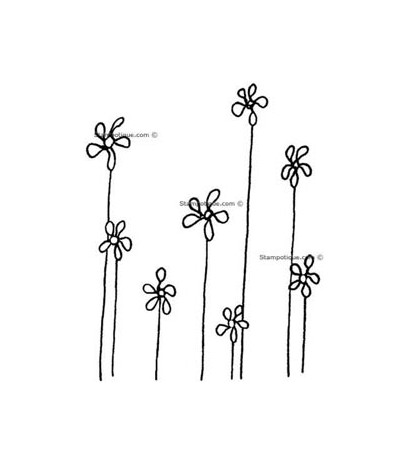 Stampotique Stempel Daisy Blumen