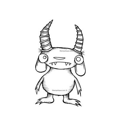 Stampotique Stempel Goat Monster