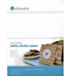 Papier blanc adhesif imprimable