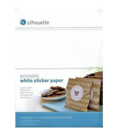 Selbstklebendes Bedruckbares Papier Weiss - Silhouette