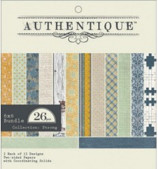 Authentique Scrapbooking Papier Strong 6x6 Bundle