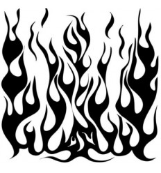 "TCW 6x6"" Template/Schablone Mini Flames"