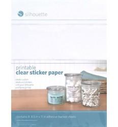 Papier transparent adhesif imprimable