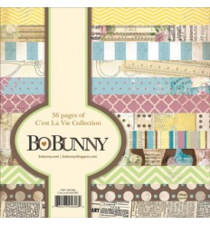 Bo Bunny Scrapbooking Papier 6x6 C'est la vie Collection