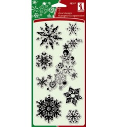 Inkadinkadoo Clear Stempel Snowflakes