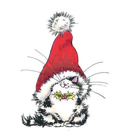 Weihnachtskatze Holzstempel - Penny Black
