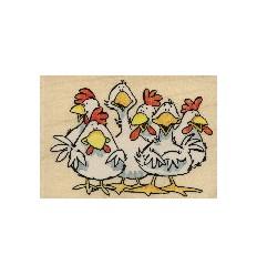 Hühnerversammlung Stempel