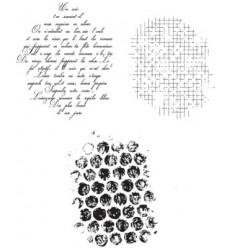 Bubble, Mesh & French Script Cling Stempel