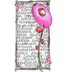Jofy Mini Stempel Blume mit grosser Blüte