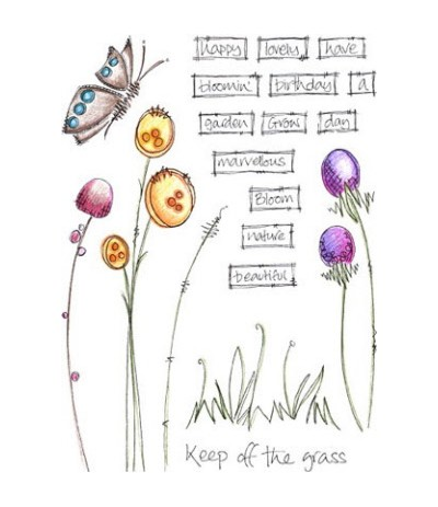 Jofy Stempelplatte Keep of the grass