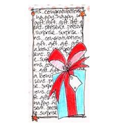 Jofy Mini Stempel Geschenk auf Schrift