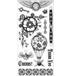 Inkadinkado Clear Stamps Steam Punk