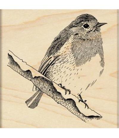 Penny Black Holz Stempel Vogel auf Ast