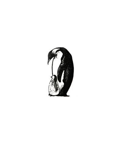 Mama Penguine Stempel