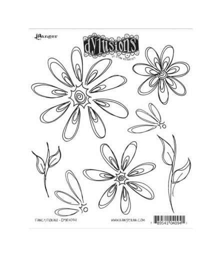 Dylusions Ranger Cling Stempel Fancy Florals