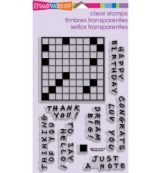 Stampendous Clear Stampel Crosswords