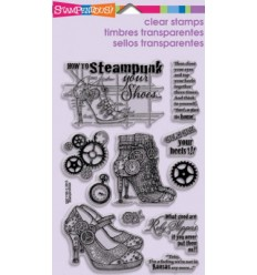 Steampunk Shoes Clear Stempel