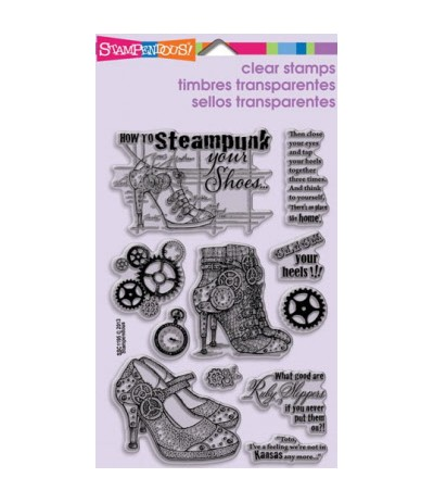 Stampendous Clear Stamps Steampunk Shoes