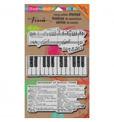 Stampendous Cling Stempel Musical Motif
