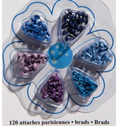 Artemio Brads Mini Rund Blautöne