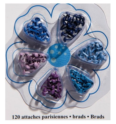 Brads Mini Rund Blautöne