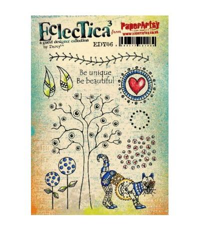 Paper Artsy EclecTica Stempelplatte Be unique Be beautiful