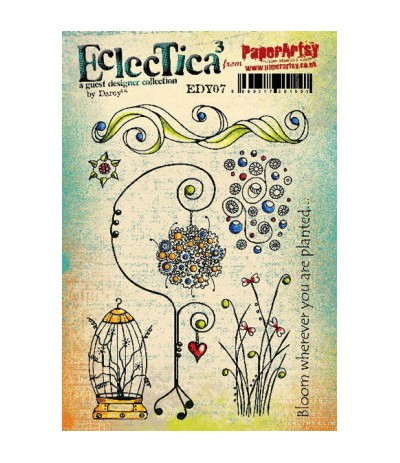 Paper Artsy EclecTica Stempelplatte Bloom wherever