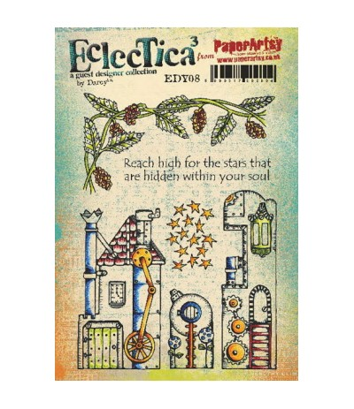 Paper Artsy EclecTica Stempelplatte Reach high for the stars...