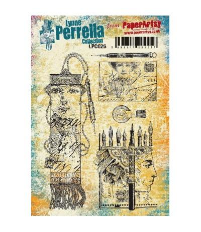 Paper Artsy Lynne Perrella Stempelplatte Post Italian
