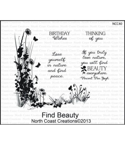 North Coast Creations Cling Stempel Find Beauty