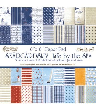 "Maja Design Scrapbook Papier Life by the Sea Stack 6""x6"""